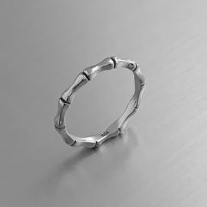 Jewelry - 🎍🎍NEW ARRIVAL🎍🎍 Sterling Silver Bamboo Ring